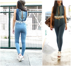 Monique Cadeleña - Forever 21 Jeggings, True Love Cropped Top - OutdoorxIndoor