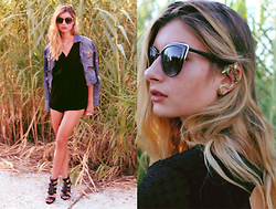 Euridice K - Cndirect Jumpsuit, Dragon Earing, Zara Sunnies, Pull & Bear Diy Jacket, Zara Sandals - INCOGNITO