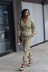 Monroe Steele - Isabel Marant Jumpsuit, Brian Atwood Pom Pom Sandals - The Perfect Jumpsuit