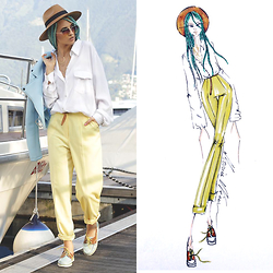 Gina Vadana - Artemisia Boat Shoes, Style Moi Jacket, Sarah Mulder Necklace, Freyrs Sunnies - DRAW ME #ep03