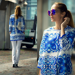 Ruxandra Ioana - Zaful Coat, Cndirect Sunglasses - National Anthem