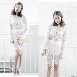 Nerza O - Lace Coordinates - Rockin' all white