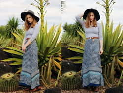 Kate Nutting - Dissh Skirt, Dotti Boots, Valleygirl Bodysuit, Forever21 Hat - Cactus