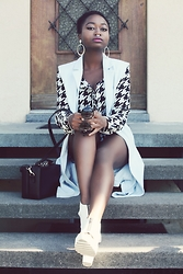 SGTURNINGPOINT.COM - Forever 21 Sleeveless Blazer, Nasty Gal Houndstooth Shirt, Asos Box Bag - BYE BYE SUMMER