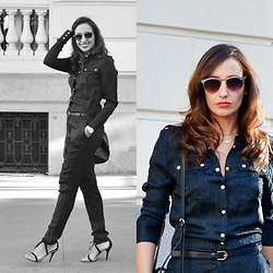 Silvia Rodriguez - Freyrs Sunglasses, Supertrash Jumpsuit - BLACK JUMPSUIT