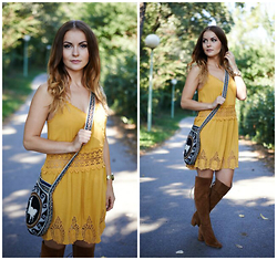 Klaudyna - Hand Made Bag, H&M Dress, Zara Shoes - Fall look
