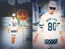 Hamza Rouah - Romwe Good Luck, Sammydress White, Nike Air Force - Good Luck