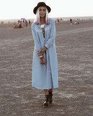 Tara-Lee McNulty - Thrifted Dress, Boohoo Platforms, Forever 21 Jewelry, Topshop Hat - Maiden