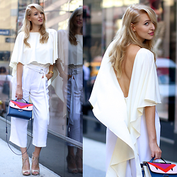 Leonie Hanne - Zara Culottes, Fendi Monster Bag, Guess Heels, Top - Never look back | #NYFW
