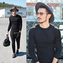 Alessio Convito - Zara Hat, Clayton Total Outfit, Bomber Co Bag - Mr. Hat