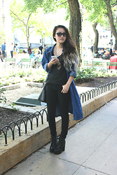 Bethery Yang - Tribal Hmong Necklace, Charlotte Russe Black Chunky Platform Booties, Forever 21 Black Skinny Jeans - City Distractions