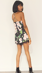 With Love, Banke Folashade - Dressin Floral Romper - Flower Child