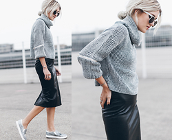 Mikuta - Verge Girl Sweater, Verge Girl Skirt, Circus By Sam Edelman Shoes, Zerouv Sunglasses - SOFT & HARD