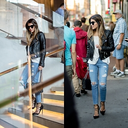 Pam Hetlinger - Topshop Distressed Jeans, Asos Lace Up Pumps - NYC