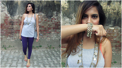 Pooja Mittal - High Low Tank - Casual Boho Outfit-Tank Top Coin Necklace