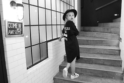 Kash Zabala - Forever 21 Black Hat, Black Polo Shirt, Adidas Storm Trooper Superstar - Changer Monochrome