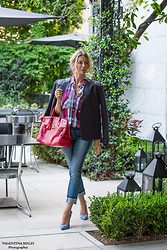 Elena Barolo - Bottega Veneta Jacket, Rails Check Shirt, 7 For All Mankind Cropped Jeans, Charlotte Olympia Stiletto, Ralph Lauren Soft Ricky Bag - Check point