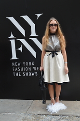 WMBG . - Rebekka Ruétz Skirt, Balenciaga Bag, Diy High Heels, Prada Sunglasses - NYFW: Look 1