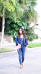 Quynh Tran - Free People Boho Top, Zara Distressed Denim, Steve Madden Estoria Heels, Chloe Marcie Mini - Trends