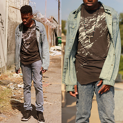 Vernon M. - H&M Printed Tee, Mr. R, Levis - Officially Fall