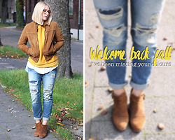 Maike L. - Massimo Dutti Suede - Welcome back fall