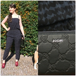 Caliope - Even & Odd Jumpsuit, Joop Clutch, Tamaris Ankle Boots, Diamante My Akita Mix - Jumpsuit Weather