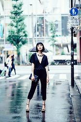 Samantha Mariko - Style Moi Jumpsuit, Forever 21 Necklace, Ted Baker Clutch, Zara Heels - Reflections in the rain