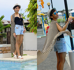 Rinx Martinee - L.E.I Shorts, Topshop Swimsuit, Primadonna Sandals - BACK ON TRACK