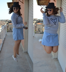 Zaira D'urso - Dresslink Unicorn, Blue Vintage, Superga White, Ray Ban Vintage, H&M Basic - WELCOME BACK AUTUMN!