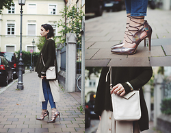 Angela Doe - Daisy Street Shoes, Fiorelli Bag, Paisie Pullover, Asos Shirtdress - THEM SHOES.
