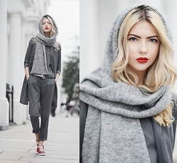 Ebba Zingmark - S.Oliver Premium Top, S.Oliver Premium Vest, S.Oliver Premium Pants, Adidas Stan Smith Sneakers, & Other Stories Scarf - WARWICK SQUARE