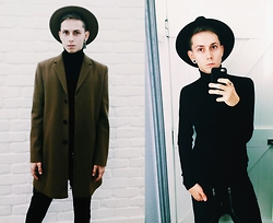 Tomasz Dąbrowski - River Island Full Look - All black+ carmel coat