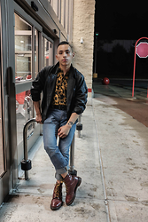 Kenneth Quinn - Urban Outfitters Shirt, Dr. Martens Boots - Late Night Shinanigans