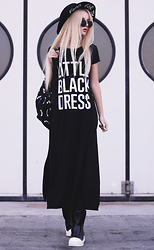 Krist Elle - Fiorellashop.Com Black Dress, Bandidas Backpack - Little black dress