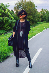 Ema Roxanne - H&M Pants, Zara Coat, H&M Sweater, Bershka Necklace, New Yorker Bag - Autumn vibez