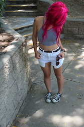 Brittniss Monster - Styles For Less Crop, Forever 21 Shorts, Converse Sneakers - Still summer