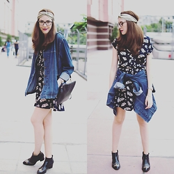 MissRux R. - Elite99 Dress, Elite99 Dress, H&M Boots, Frontrowshop Bag, H&M Headband - Throw on a jacket and go!