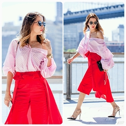 Raquel Cañas - Moniva Arguedas Top, Christian Dior Sunnies, Valentino Pimps - IN RED WITH THE BRIDGE