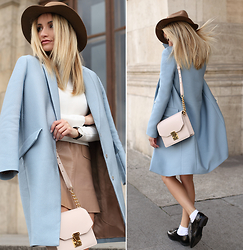 Silvia P. - Tara Jamron Coat, Sandro Dress, Pimkie Shoes, Sophie Bags Purse, Zara Top - Back to school