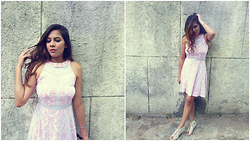 Pooja Mittal - Pink Lace Dress - Before Summer Ends- Little Pink Dress