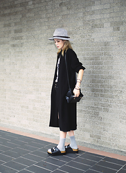 Miriam Mibao - Miyuti Trench Coat - Black x grey