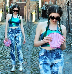 Nichola Rose - Moonwaves Clothing Halter, We Are Cow Jeans - MOONWAVES MERMAID