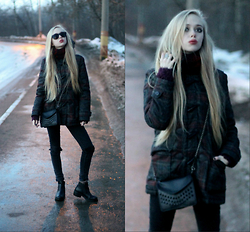 Eliza Modex - Jacket, Bag, Zara Boots, Jeans - Doll