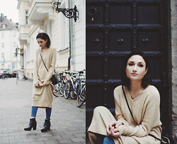 Angela Doe - Asos Pullover Dress, Acne Studios Boots, Calvin Klein Bag - Cozy