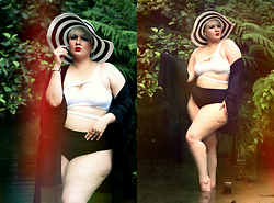 Luciana Blümlein - Agent Provocateur Bikini Top, H&M+ Bikini Bottoms, Sonia Rykiel For H&M Kimono, Comma Hat - • Jungle •