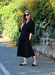 Angharad Jones - Asos Sunglasses, River Island Top, Monki Culottes, Asos Flats - Kimono and Culottes