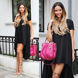 Manuella Lupascu - Irresistible Me Hair Extensions, Michael Kors Bag, Inia Lavin Boots - Casual Sunday with Irresistible Me