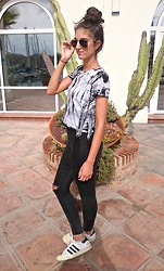 Julia - New Look Top, Topshop Jeans, Adidas Trainers - OLD SUPERSTARS