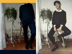 ALEXISCOSME D. -  - | DARK BLUE WITH WHITE | MEN´S LOOK | FALL |