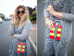Clare Astra Morris - Primark Cardigan, Sugarhill Boutique Jumpsuit, Next Bag - Lolly POP!
